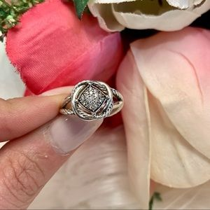 David Yurman Authentic Infinity Ring with Diamonds